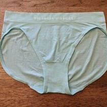 Vs Victoria's Secret Sea Blue Logo Medium  Seamless Brief Cotton Panty  Photo