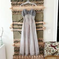 Vtg 1950s Gotham Gold Stripe Grey/blush Nightgown Ruffle Bust Pinup Lingerie 50s Photo
