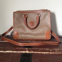 Vtg 1970's Gucci Large Handbag in Excellent Condition Brown Monogram  Photo