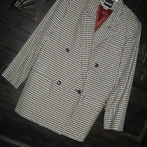 vtg.1980's Jacket Mad Man Hot Hip Cool by the Limited sz.0 Black & Cream Check  Photo