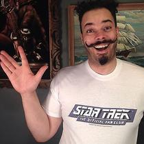 Vtg 1980's Star Trek Fan Club T-Shirt Science Fiction Tv Show Big Bang Theory Photo