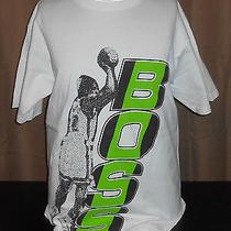 Vtg 1990s Hugo Boss White T Shirt - Basketball/hip-Hop/jump Shot - Large Long Photo
