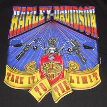 Vtg 1994 Harley-Davidson - Daytona Beach Bike Week -Black T Shirt-Made in Usa-Xl Photo