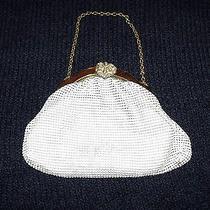 Vtg 20's Whiting & Davis Metal Mesh Enamel Beaded Chain Strap Purse Handbag Rare Photo