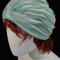 Vtg 50s 60s Christian Dior Chapeaux Wearable Art Mod Retro Ribbon Turbin Hat Photo