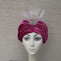 Vtg 60's Christian Dior - Rose Turban Chapeaux Hat ...vgc     Photo