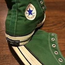 Vtg 60s 70s Green Converse Chuck Taylor Blue Label Sneakers Usa Made 11.5 Photo