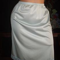 Vtg 70's Silky Shine Frosted Shiny Half Dressing Slip Pin Up Lingerie 44