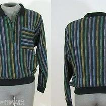 Vtg 70s Pierre Balmain Paris Cotton Ikat Hipster Pullover Shirt Sweater Jumper M Photo