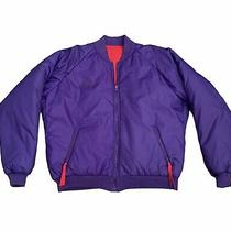 Vtg 80s 90s Columbia Men's Ski Jacket Radial Sleeve Xl Reversible Purple Red Photo