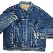 Vtg 80's Levi's 72506 0216 Men Blue Jean Distressed Trucker Denim Jacket 52 R Photo