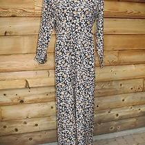 Vtg 80s 90s L Grunge Floral  Express Wide Leg Jumpsuit One Piece Pants Romper  Photo
