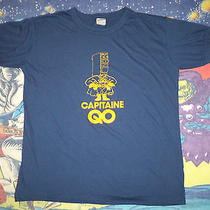 Vtg 80s Capitaine Captain Qo Sheldon Big Bang Theory Tv Show Blue T-Shirt M/l  Photo