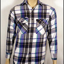 Vtg 80s Carhartt Beautiful Plaid Button Down Flannel Shirt Work Grunge Sz S Photo