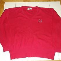 Vtg 80s Christian Dior Mens v-Neck Cotton Pink Golf Sweater Xl Photo