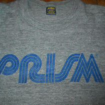 Vtg 80s Medium Prism Premium Cable Television Satellite Comcast Shirt Photo