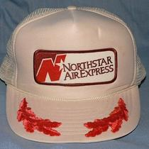 Vtg 80s Northstar Air Express Pilot School Hat Cap Snapback Osfa Trucker Patch Photo
