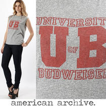 Vtg 80s University of Budweiser Beer Heather Gray Soft Thin Muscle Top T Shirt Photo