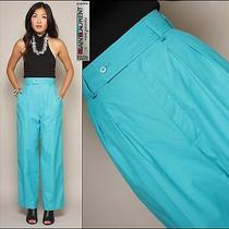Vtg 80s Yves Saint Laurent Rive Gauche Minimalist High Waist Cotton Trouser Pant Photo
