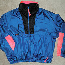 Vtg 90's Men's Columbia Intertrainer Jacket Xl Blue Zip in Liner Radial Sleeve Photo
