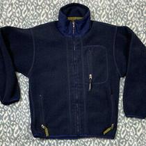 Vtg 90's Patagonia Fleece Full-Zip Jacket Men's Sz S Navy Blue Rare Photo