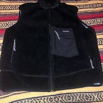 Vtg 90s Patagonia Retro-X Deep Pile Fleece Vest Black Usa Mens Large - Fa01 Photo