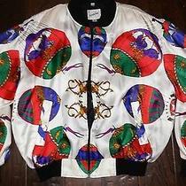 Vtg 90's Versace Full-Zip Hot Air Ballon Jacket Multi-Color Jacqueline Ferrar Photo
