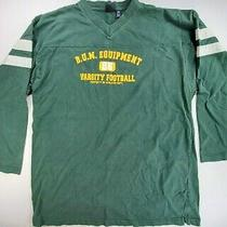Vtg 90s b.u.m. Equipment Bum Football Sweatshirt Crewneck Pullover Green 2xlt Photo