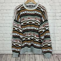 Vtg 90s Bold Expression Mens Sweater Size Xl Usa Made 3d Textured  Photo