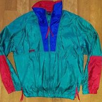 Vtg 90s Columbia Intertrainer Light Jacket Coat Awesome Color Neon Mens L Radial Photo