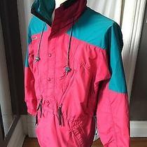 Vtg 90s Columbia Pullover Men Sz M Radial Sleeve 3/4 Ski Parka Coat Jacket Neon Photo