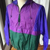 Vtg 90s Columbia Pullover Women Sz Xl Radial Sleeve Coat Jacket Neon Lined Photo