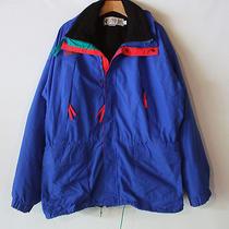 Vtg 90s Columbia Radial Sleeve 2 Layer Jacket Mens Sz Xl Fleece Line Nylon Shell Photo