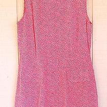 Vtg 90s Express Red White Triangles Rayon Romper Shorts Dress Sz 9/10 L  071415 Photo