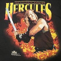 Vtg 90s Hercules Legendary Journeys Ultimate Warrior T-Shirt Large Tv Fantasy Photo