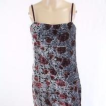 Vtg 90s Jill Stuart Velvet Burnout Dress Sz 4 Gray Red Floral Grunge Romantic  Photo