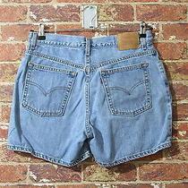 Vtg 90s Levis Sz 12 Mis Shorts Blue Denim Festival Mom Jeans High Waisted Photo