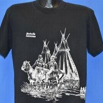 Vtg 90s Nashville Tennessee Native American Wrap Around Black T-Shirt Large L Photo