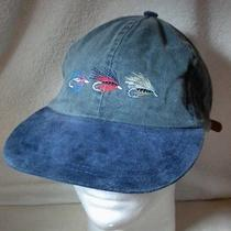 Vtg 90s Northern Elements Fly Fishing Ball Cap Adjustable Hat Embroidered Flies Photo