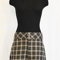 Vtg 90s Rampage Brown Plaid  Sz L  Mini School Girl Grunge Skirt Photo