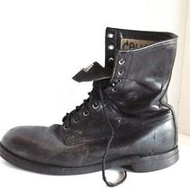 Vtg Addison Steel Toe Heavy Military Work Goth Grunge Boots 10 W Ansi Photo