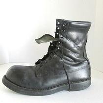 Vtg Addison Steel Toe Heavy Military Work Goth Grunge Boots 12 W  Photo