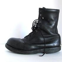 Vtg Addison Steel Toe Military Work Combat Grunge Boots 10.5 W Well Worn Photo