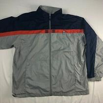 Vtg Adidas Windbreaker Track Jacket Grey Blue Orange 2xl Jacket Mesh Lined Zip Photo