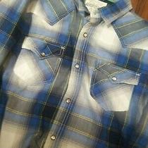 Vtg Aeropostale Western Pearl Snap Tartan Plaid Button Shirt Men's Xl Photo