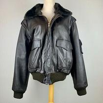 Vtg American Express Co. Leather Flight Bomber Jacket Photo