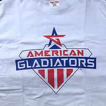 Vtg American Gladiators Tv Show T Shirt L 80s 90s Retro Pop Culture Usa Photo