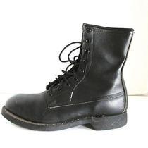 Vtg Ansi Steel Toe Military Work Jump Biker Combat Goth Grunge Boots 6 M 7.5 W Photo