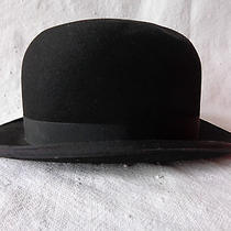 Vtg Antique Christys' London Black Derby Bowler Hat  Photo