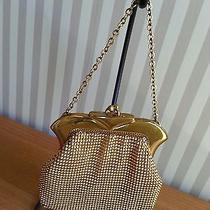 Vtg Antique Whiting & Davis Gold Metal Mesh Silk Lined Purse Pristine Condition Photo